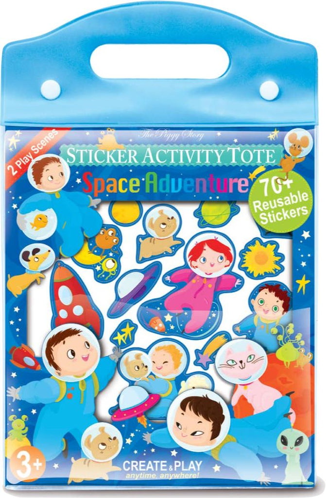 SPACE ADVENTURE STICKER ACTIVITY TOTE Fun! Swoop