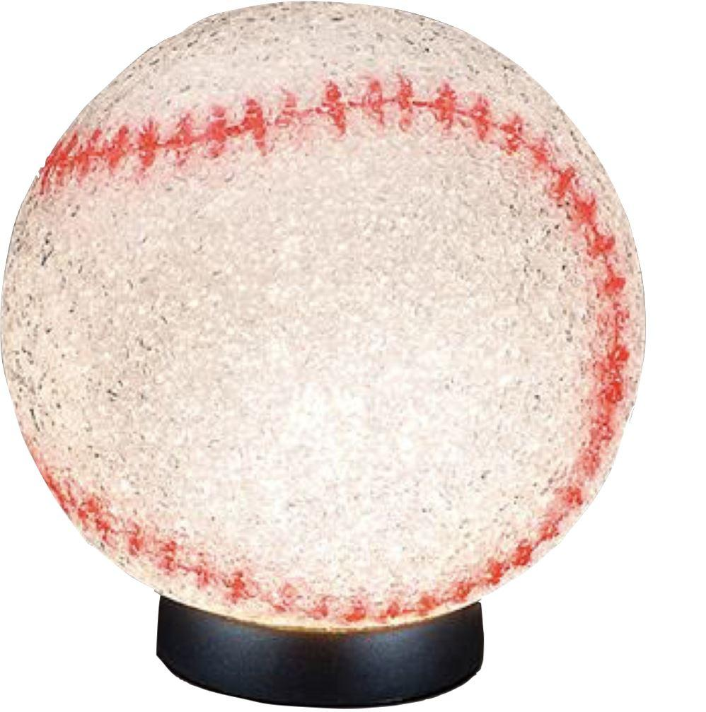 "SPARKLE BASEBALL LAMP 9"" Fun! swoop is fun"