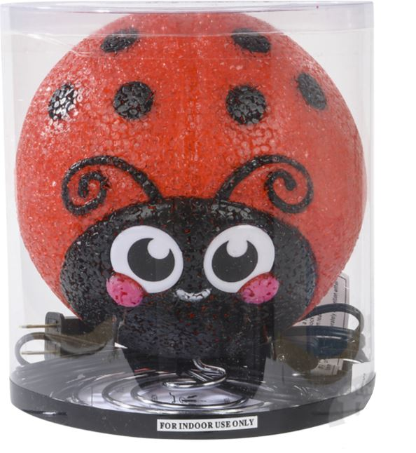 SPARKLE LADY BUG LAMP Fun! Swoop
