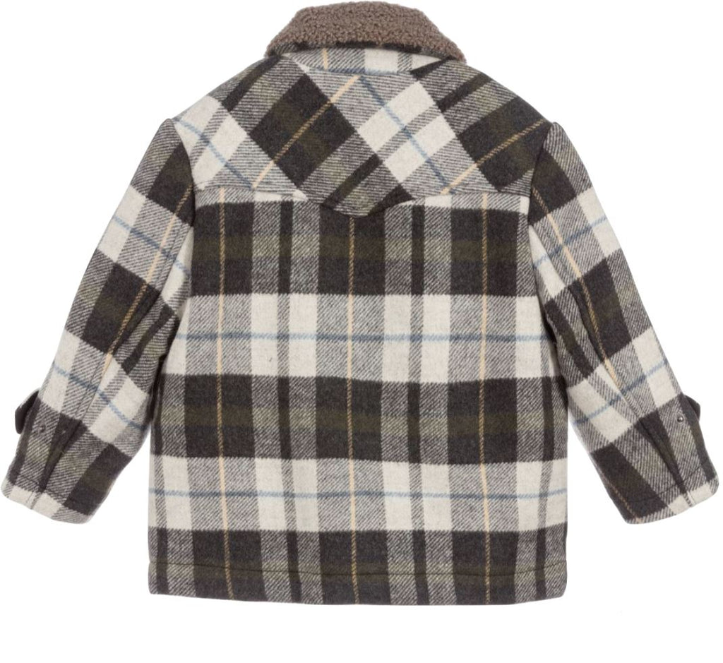 STELLA MCCARTNEY CHECK JACKET Jackets & Coats Stella McCartney Kids