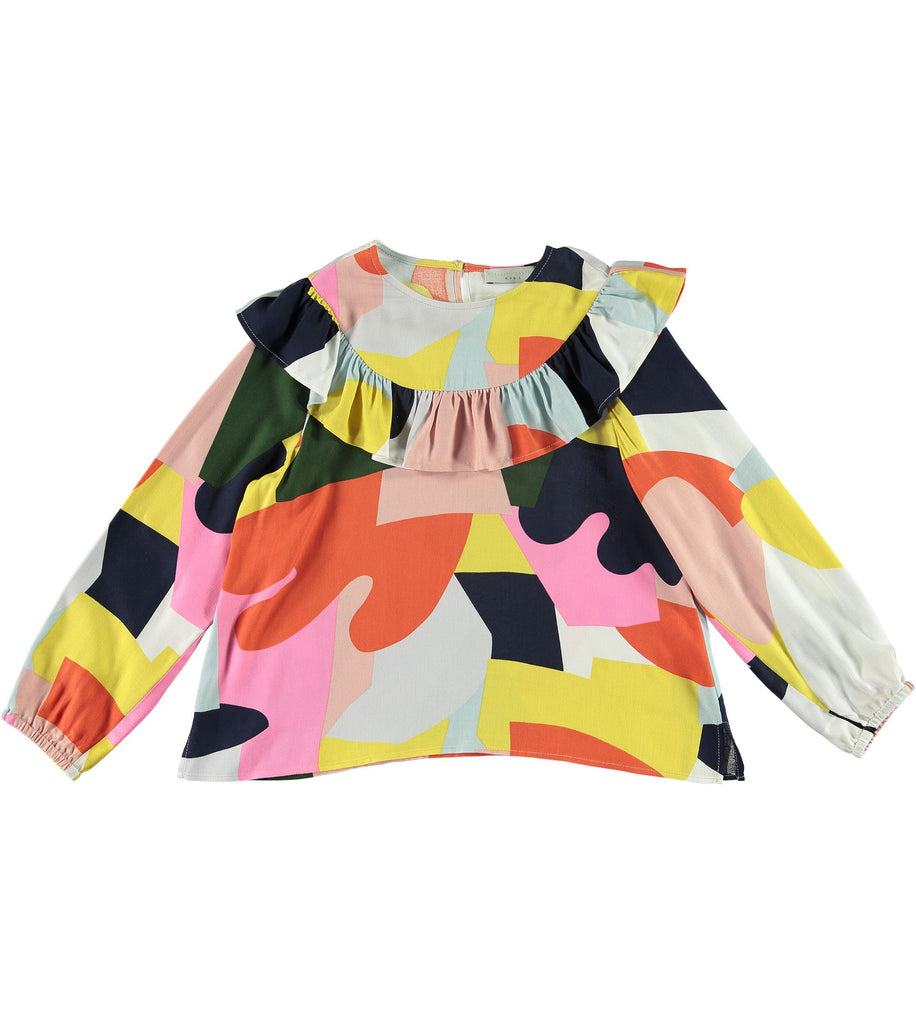 STELLA MCCARTNEY COLORBLOCK FRILL TOP Tops Stella McCartney Kids