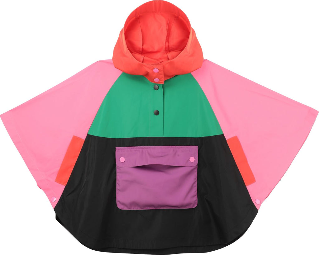 STELLA MCCARTNEY COLORBLOCK PONCHO Jackets & Coats Stella McCartney Kids