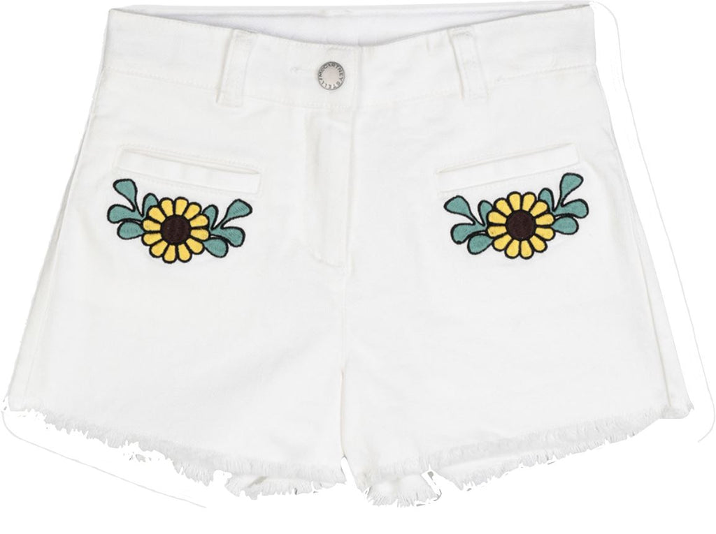 STELLA MCCARTNEY EMBROIDERED DENIM SHORTS Shorts Stella McCartney Kids