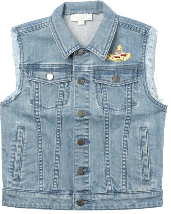 STELLA MCCARTNEY EMBROIDERED DENIM VEST Tops Stella McCartney Kids
