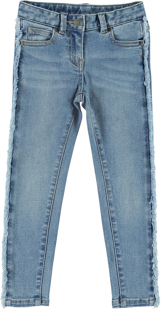 STELLA MCCARTNEY FRINGE DENIM Pants Stella McCartney Kids