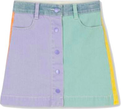 Stella McCartney Kids Colorblock Denim Skirt Skirt Stella McCartney Kids