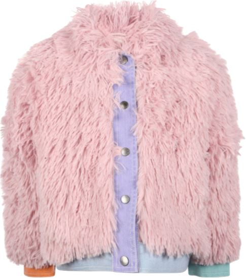 Stella McCartney Kids Fluffy Faux Fur Coat Jackets & Coats Stella McCartney Kids