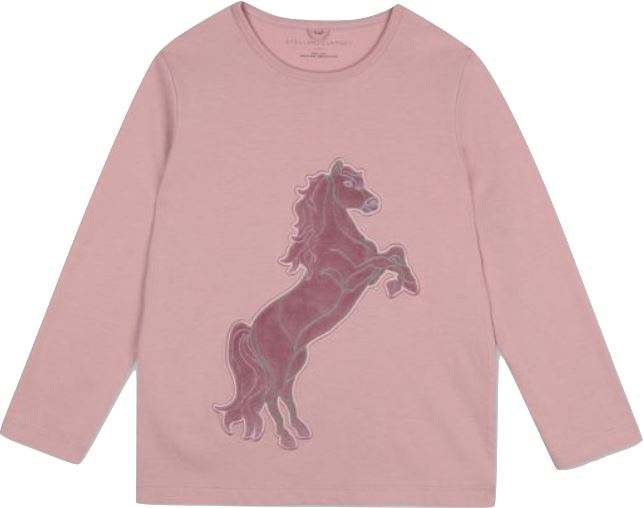 Stella McCartney Kids Long Sleeve Horse Patch Tshirt Tops Stella McCartney Kids