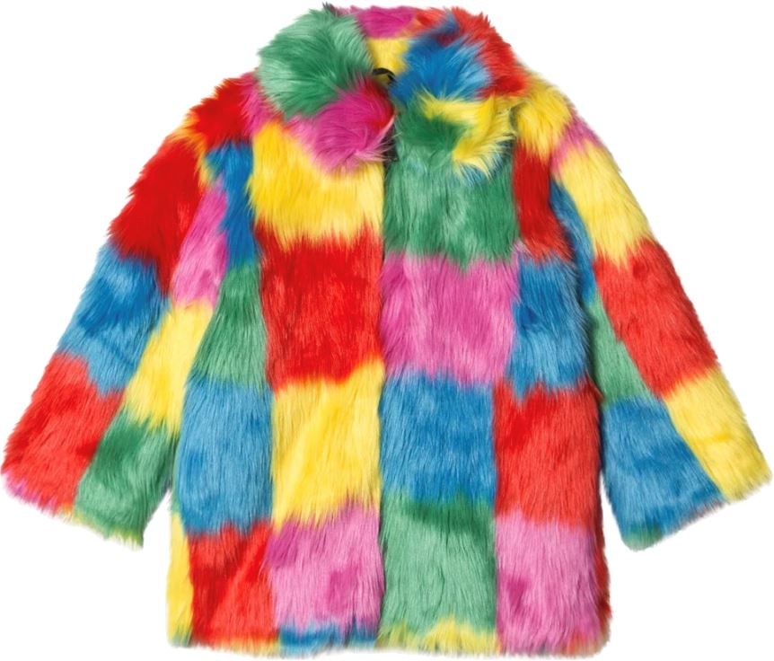 Stella McCartney Kids Multicolor Faux Fur Coat Jackets & Coats Stella McCartney Kids