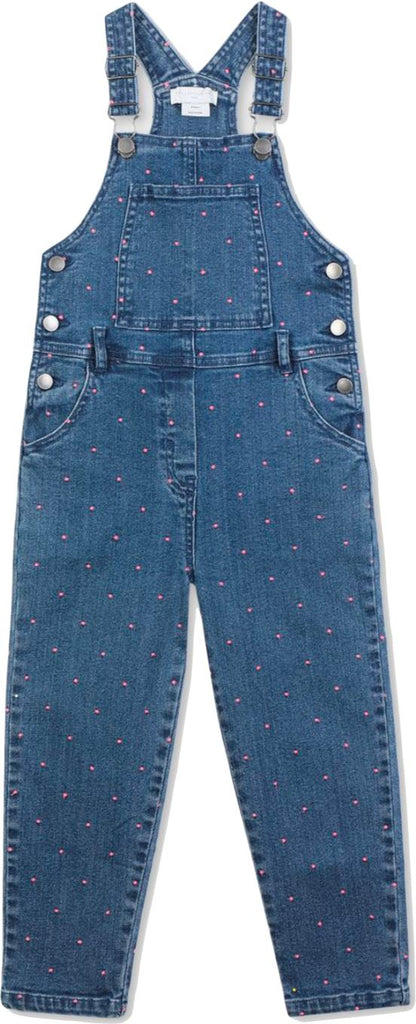 Stella McCartney Kids Overalls with Pink Dots Pants Stella McCartney Kids