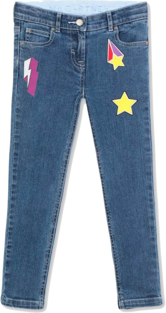 Stella McCartney Kids Varsity Badges Girls Jeans Pants Stella McCartney Kids
