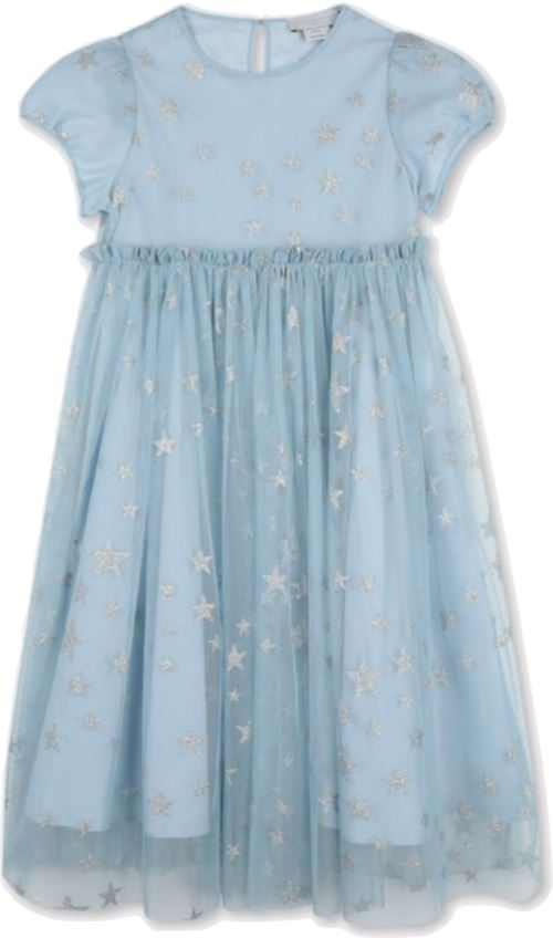 Stella McCartney Silver Stars Blue Tulle Dress Dress Stella McCartney Kids