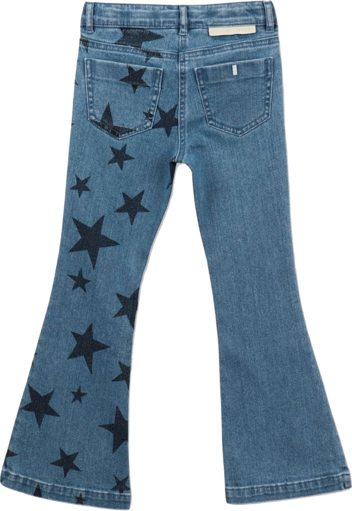 STELLA MCCARTNEY STAR FLARE DENIM JEANS Pants Stella McCartney Kids