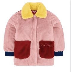 The Marc Jacobs Color Block Faux Fur Coat Jackets & Coats The Marc Jacobs