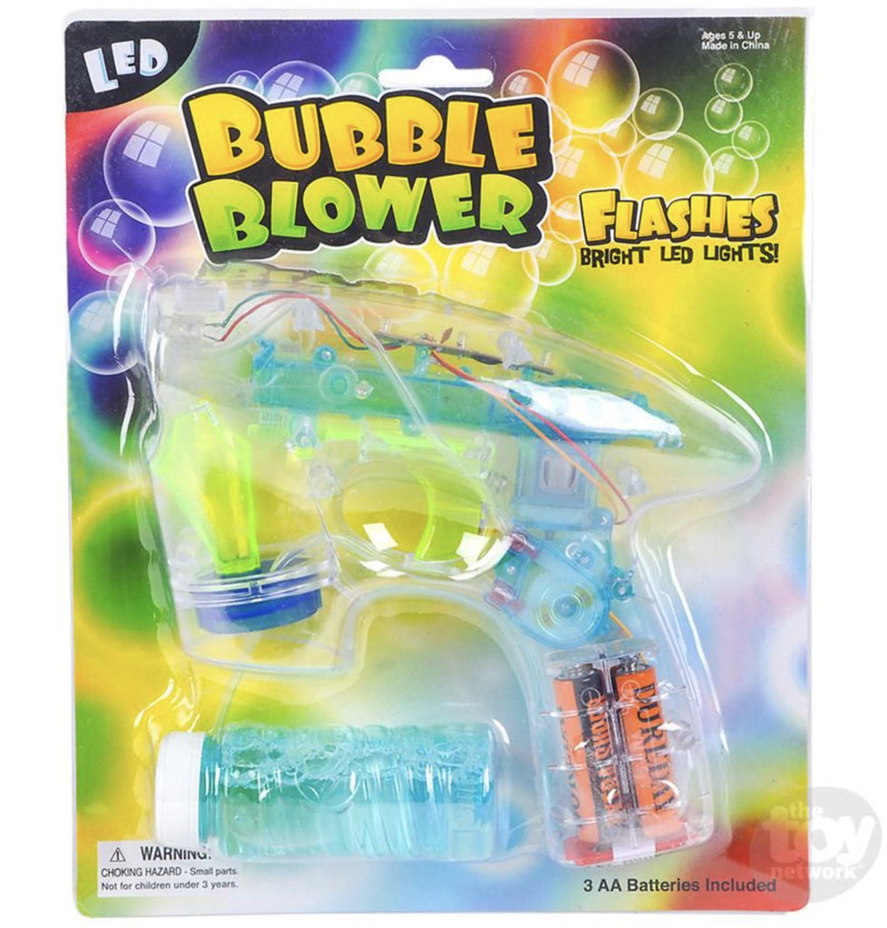 TRANSPARENT LIGHT UP BUBBLE BLASTER Fun! swoop is fun