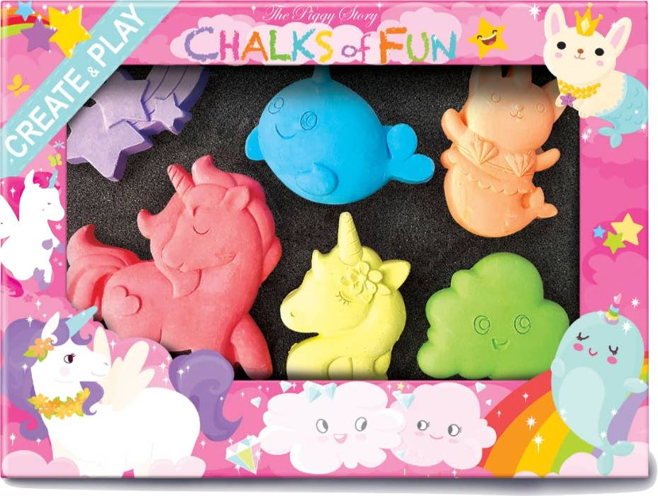 UNICORN LAND CHALK CRITTERS Fun! Swoop