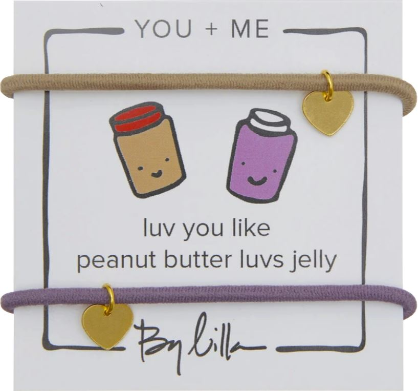 You & Me Hair Tie Bracelet Accessories Swoop PB & J