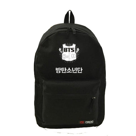BTS  Fashion Backpack Cosmetic Bags