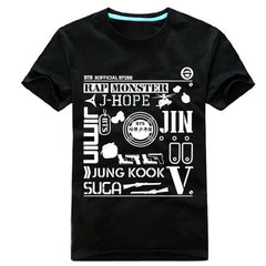 BTS Summer Short Sleeve Tshirt