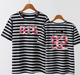 BTS  The Same Stripy Short Sleeve Tshirt