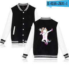 BTS Unicorn Baseball Jacket  Long Sleeve Spring