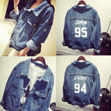 BTS  Bomber winter Denim Jacket