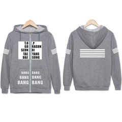 BIGBANG G-DRAGON  Zipper Hoodies