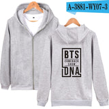 BTS Hoodies Sweatshirt Women Hoodies Zipper Clothes