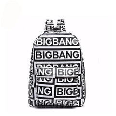 Bigbang fans bagpack G-dragon punk rock backpack school