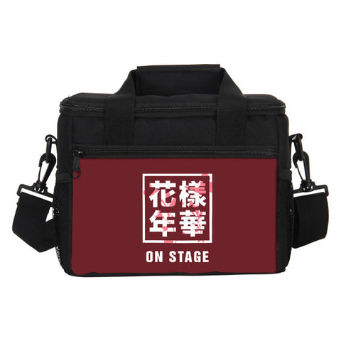 BTS  3D Printing Lunch Bags Multi Function Picnic Bags  Ice Pack Bags