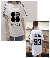 BTS Girl Student Individuality Summer Short Sleeve tshirt
