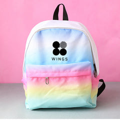 BTS  Canvas Gradient Color Bag Jewelry Admission Package Fashion