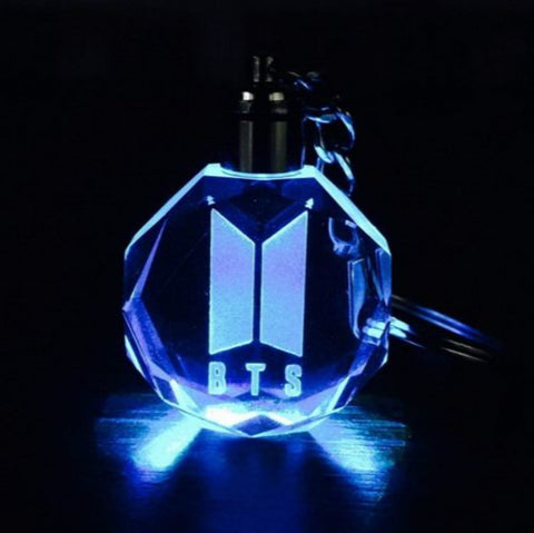 BTS New LOGO DOOR Keychain Model  LED Crystal Light