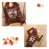 BTS Clothes Loose Autumn Grid Suit Long Sleeve Hoody Outerwears