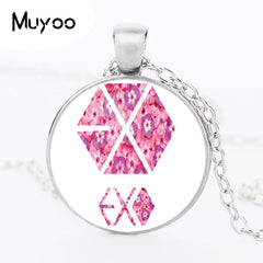 EXO  Choker Statement Silver Necklace Flowers  Charm Necklace