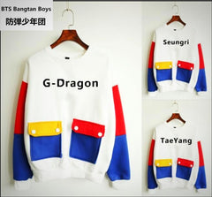 BIGBANG  Loose Long Sleeves Printed