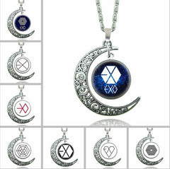 EXO Statement Star Glass  necklace Collares