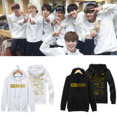 BTS Graffiti Printing Suit long Sleeve hoody Outerwears