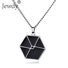 EXO Cord Fan necklace for boy and girls love necklace New fashion
