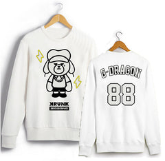 Bigbang GD Peripheral Round Neck Korean Couple Loose