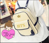 BTS Fashion Korea  Imperial crown Mark BTS Bronzing logo PU  Students canvas