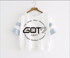 GOT7 Ultra Leisure Clothing Letter Short Sleeve Shirt