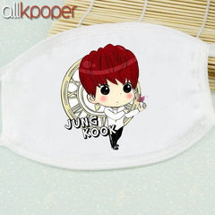 BTS Mouth Mask Cartoon