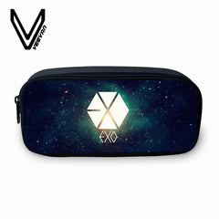 EXO Letter Pints Pencil 3D Case Girls School Wallets Cartoon Purse Fashion
