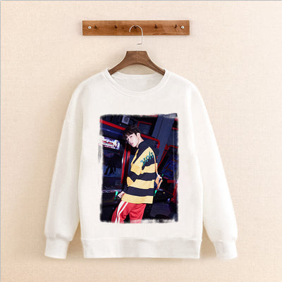 BTS Korean Version Hoodie Sweatershirt Round Neck