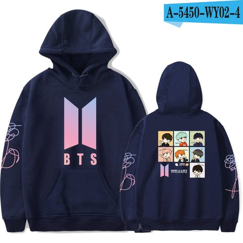 BTS Sweatshirt Fashion Hoodies With a Cap