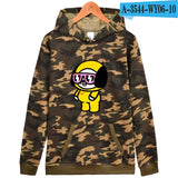 BTS Love Yourself Camouflage Hooded  Sweatshirt