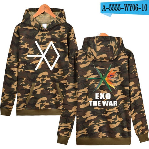 EXO Hooded Women Winter Popular Idol Hoodies Sweatshirt