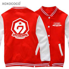 got7 coat concert single breasted baseball jacket lovers c