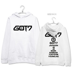 GOT7  all member names printing hoodies jackson mark bambam